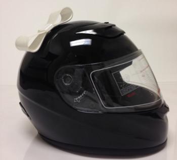 White Motorcycle Helmet Bow