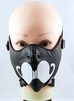 Thunder Dome Leather Half Face Mask