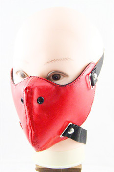 Menstrual Leather Half Face Mask