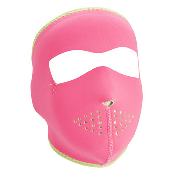 Pink Reverses to Lime Neoprene Face Mask