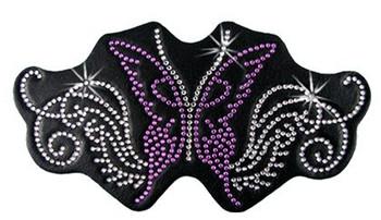 Purple Sparkling Butterfly Rhinestone Helmet Patch