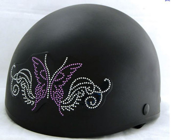 Sparkling Butterfly Rhinestone Helmet Patch
