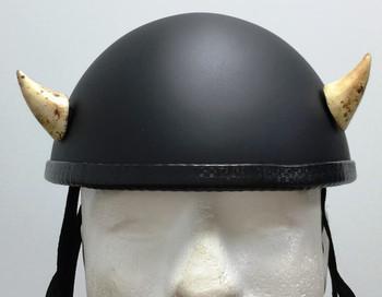 Bone Devil Horns Small Curved Motorcycle Helmet Horns