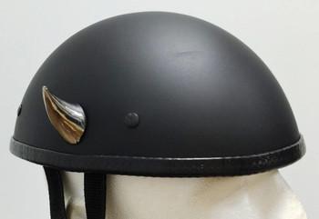 Chrome Devil Horns Small Curved Motorcycle Helmet Horns