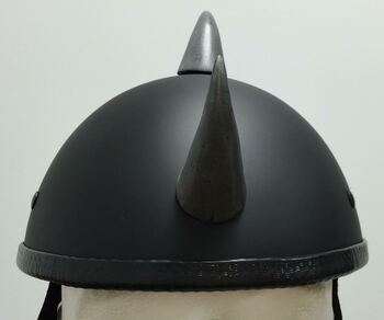 Silver Devil Horns Medium Curved Helmet Horns