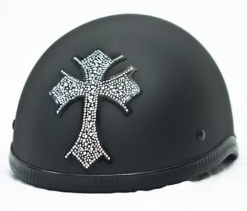 Cross Rhinestone Motorcycle Helmet Patch