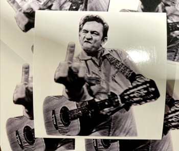 Johnny Cash Sticker Johnny Cash Flicking Bird Sticker