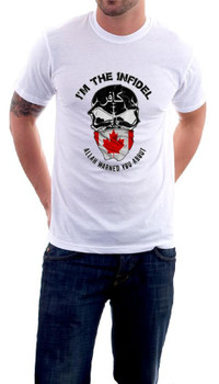 I'm the Infidel Allah Warned You About Canadian Flag T-Shirt