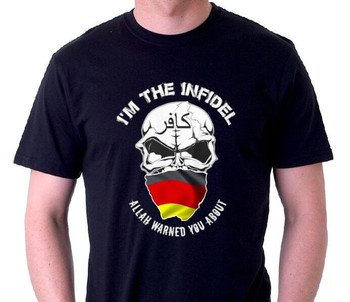 I'm the Infidel Allah Warned You About (Germany Flag) T-Shirt