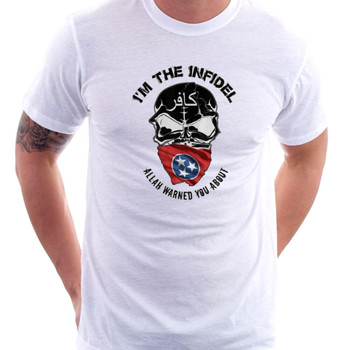 I'm The Infidel Allah Warned You About (Tennessee State Flag) T-Shirt