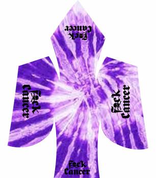 fuck cancer black purple