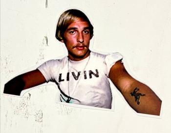Matthew McConaughey Livin Sticker