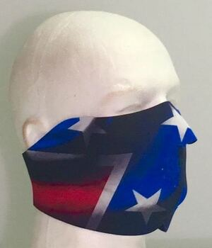 Rebel Flag Neoprene Half  Face Mask