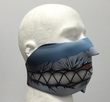 Shark Teeth Neoprene Half Face Mask
