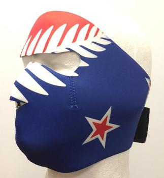 New Zealand Flag Neoprene Face Mask