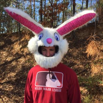 Bunny Motorcycle Helmet Cover
