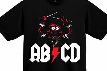 Animal ABCD T-Shirt Muppet's Shirt Animal Shirt