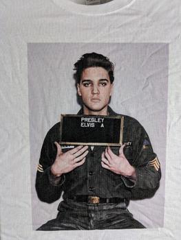 Elvis Presley Mugshot T-Shirt Elvis Presley Army Shirt in Color