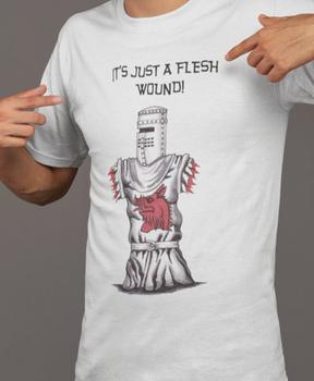 Monty Python Shirt Black Knight Shirt Just a Flesh Wound Shirt
