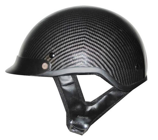 DOT Carbon Fiber Look Shorty Motorcycle Helmet