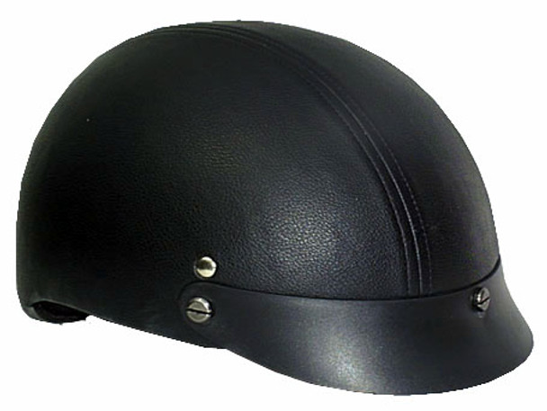 Leather DOT Motorcycle Helmet