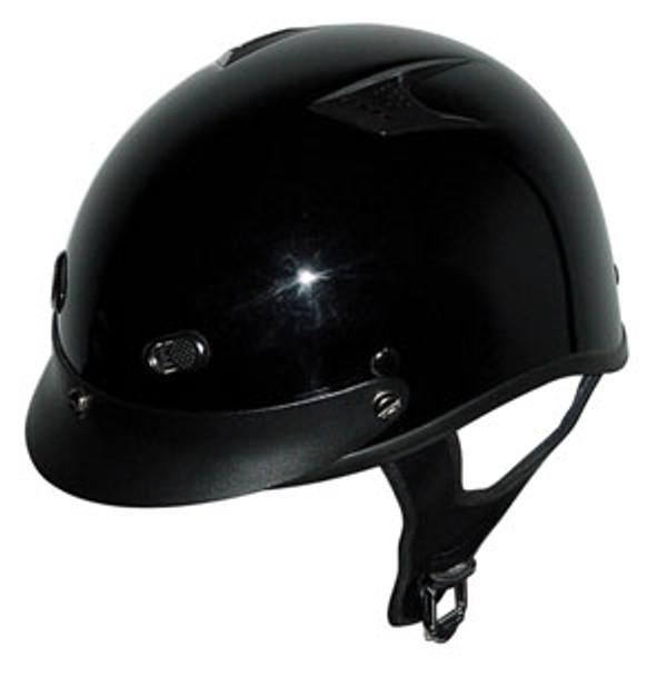 Black Vented Motorcycle Helmet