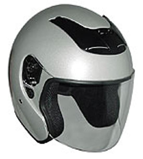 Silver Motorcycle Helmet