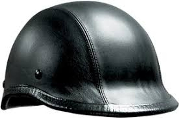 Leather Jockey Motorcycle Helmet