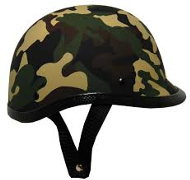 Novelty Camouflage Jockey Motorcycle Helmet