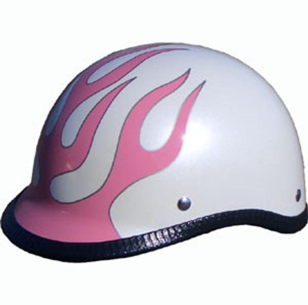 Pink Flame Motorcycle Helmet
