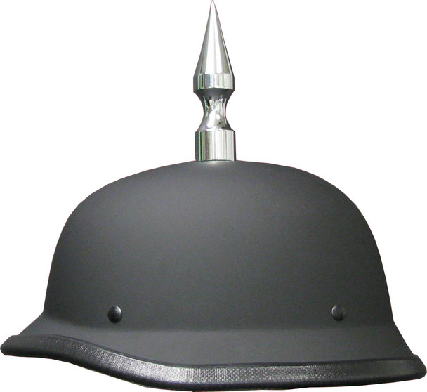 GERMAN FLAT MOTORCYCLE HELMET WITH SPIKE