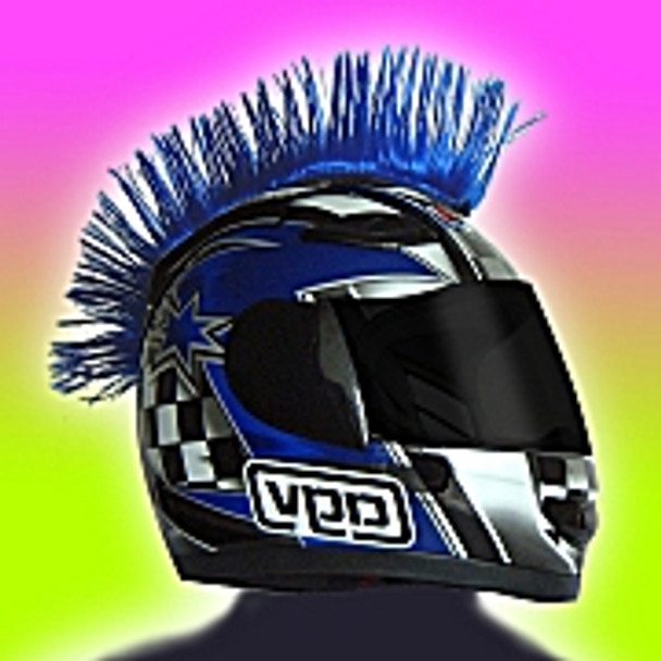 Helmet Mohawk  in Blue