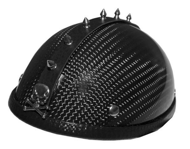 1041 MOTORCYCLE HELMET SPIKE STRIP MOHAWK