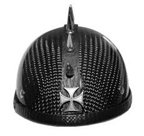 1037 Motorcycle Helmet Maltese Cross Spike Strip Mohawk