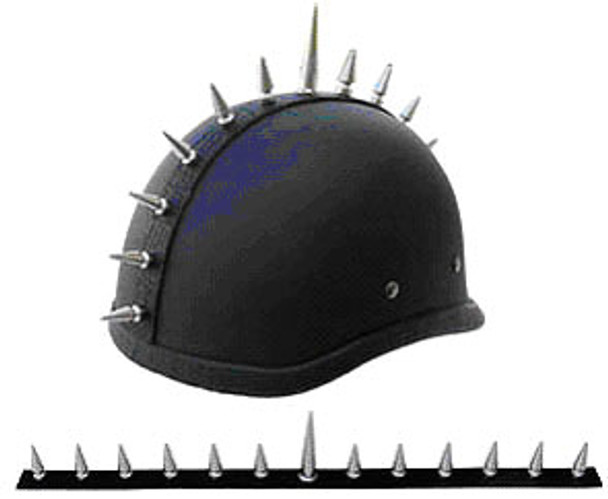 1036 MOTORCYCLE HELMET SPIKE STRIP MOHAWK