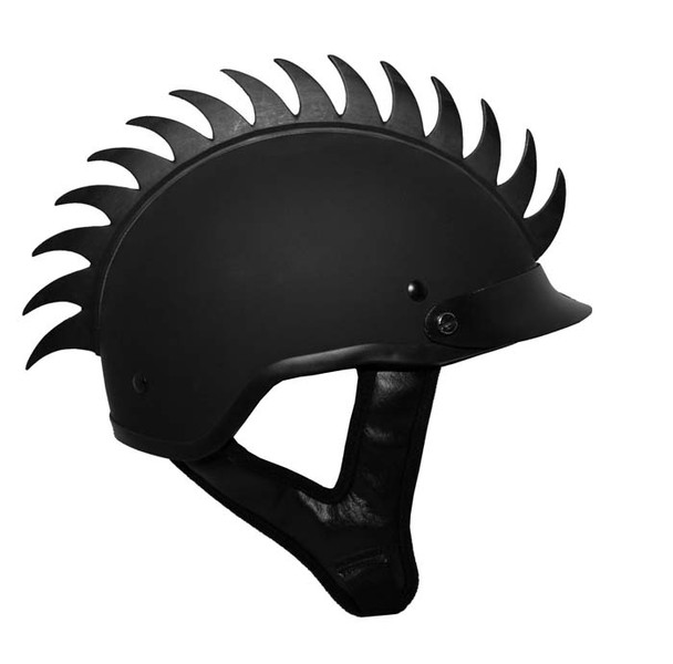 Saw Blade Warhawk on a DOT Shorty Motorcycle Helmet