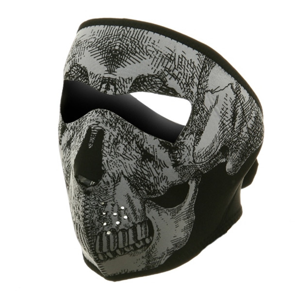 Glow in the Dark Skull Neoprene Face Mask