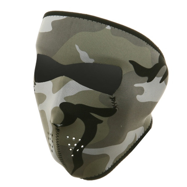 Urban Camouflage Neoprene Face Mask Front