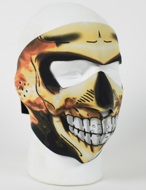 Skull Flame Inferno Neoprene Face Mask
