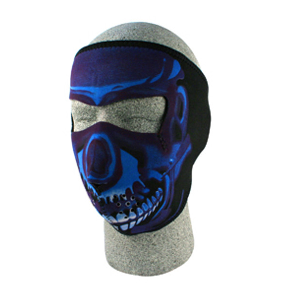Blue Skull Neoprene Face Mask