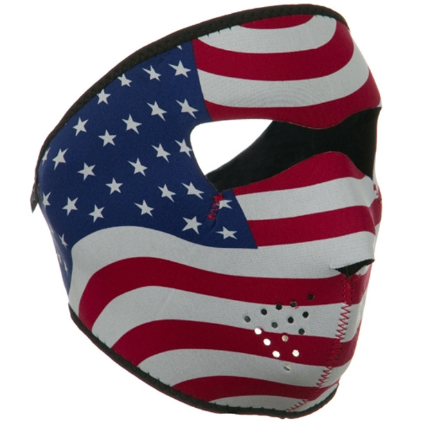 USA Flag Neoprene Face Mask Side
