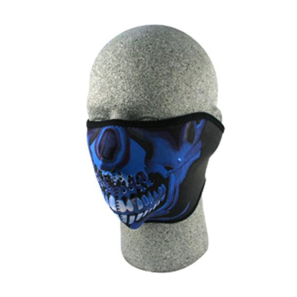 1/2 Blue Skull Neoprene Face Mask