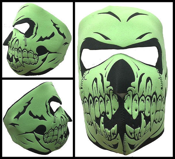 Glow Galleon Skull Neoprene Face Mask