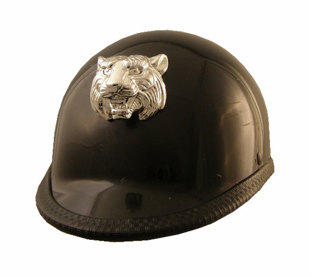 Chrome Tiger Motorcycle Helmet Attachment