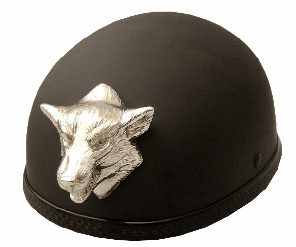 Chrome Wolf Motorcycle Helmet Attachment