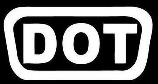 DOT Motorcycle Helmet Sticker