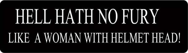 Hell Hath No Fury Like A Woman With Helmet Head! Motorcycle Helmet Sticker