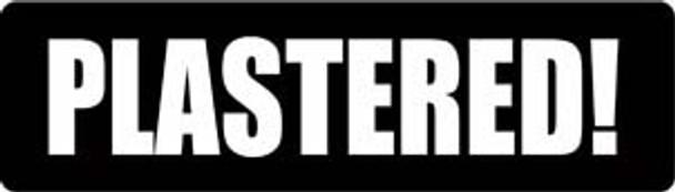 PLASTERED! Motorcycle Helmet Sticker