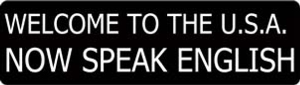 Welcome To The U.S.A. Now Speak English Motorcycle Helmet Sticker
