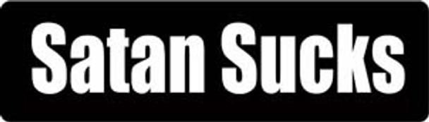Satan Sucks Motorcycle Helmet Sticker